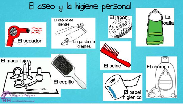 El aseo y la higiene personal a1 hispanic horizons un for Imagenes de utiles de aseo
