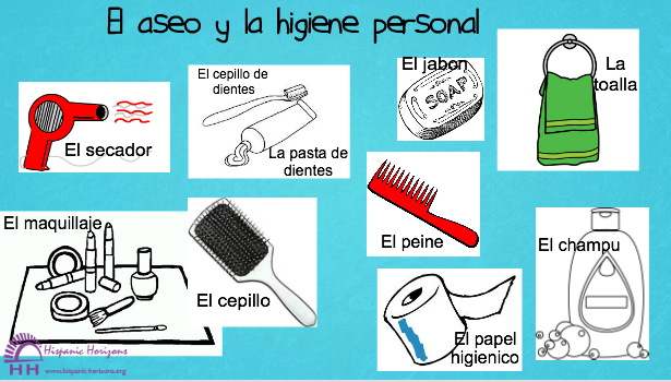 El Aseo y la Higiene Personal (A1) | HISPANIC HORIZONS